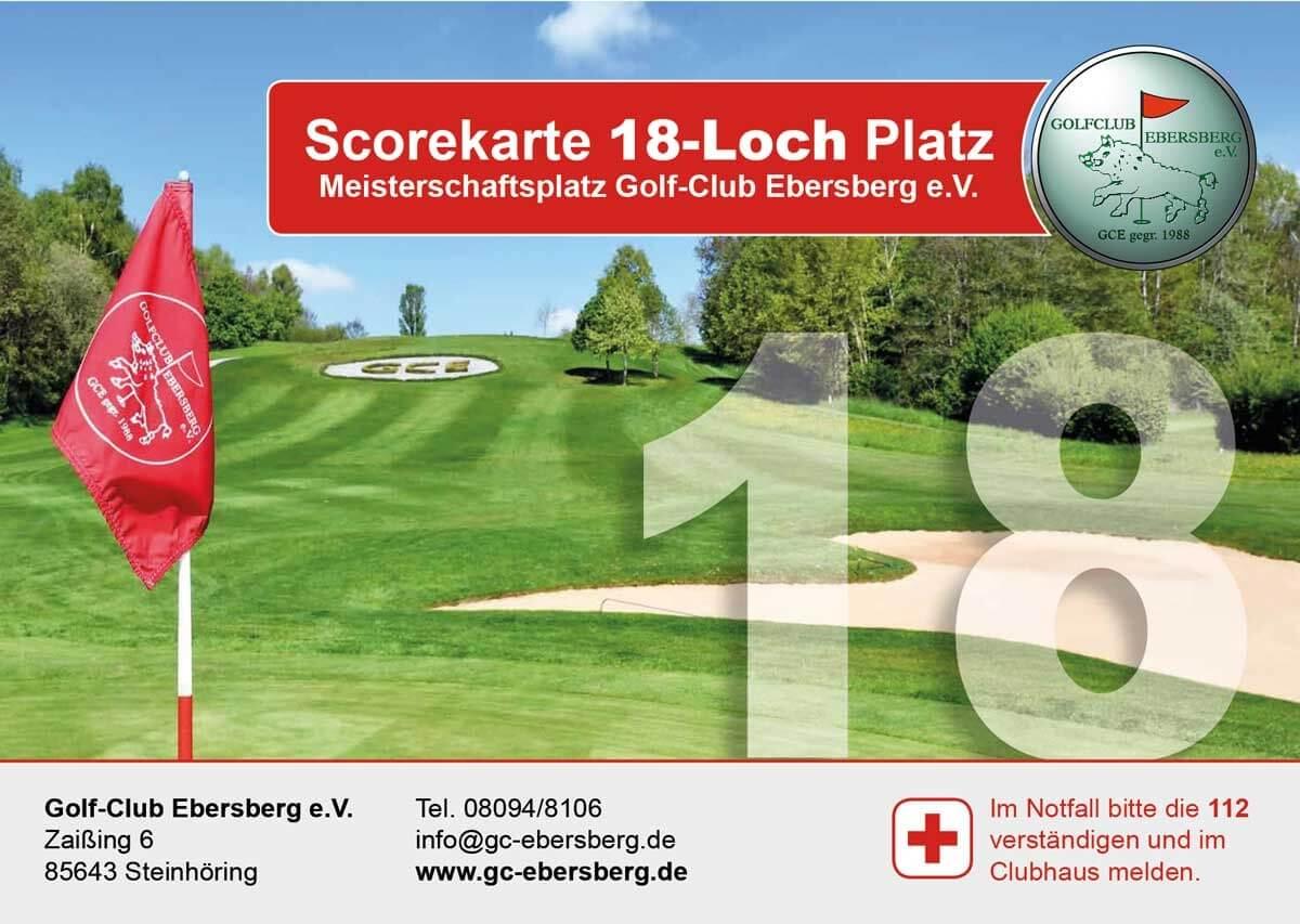 Scorekarte 18-Loch Platz
