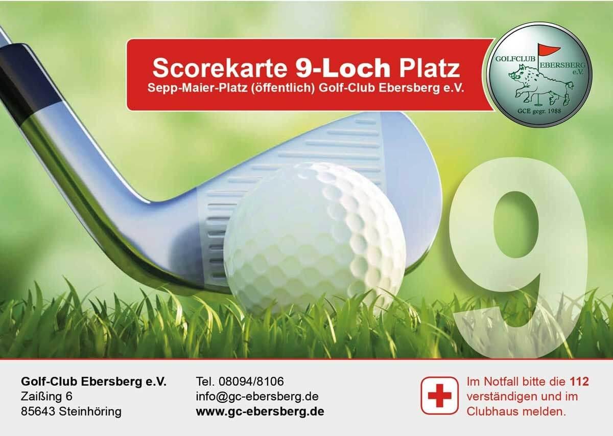 Scorekarte 9-Loch Platz